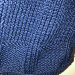 pure Handknit Sweaters - Pure Handknit toggle sweater vest navy XS S fit M